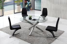 chrome glass dining table aldo
