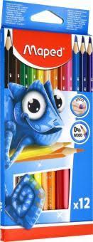 """""""<b>Карандаши цветные</b> """"Pulse"""" (12 цветов, пластиковые) (862252 ..."""
