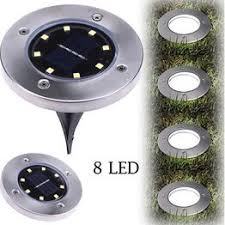 8LED Solar Power Buried Light Under Ground Lamp Outdoor ... - Vova