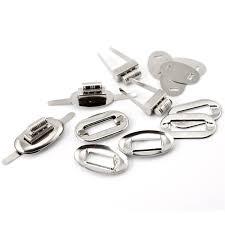 <b>20Sets Silver Tone</b> Oval Purse Twist Turn Lock Clasps DIY Coin ...
