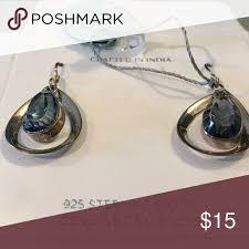 <b>YS 925 Sterling Silver</b> Blue Mystic Quartz Earrings Never worn, gift ...