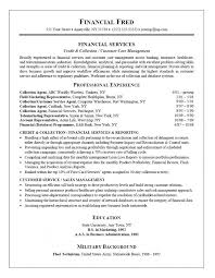 collection agent resume collections agent