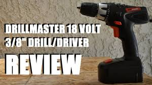 "Harbor Freight <b>DrillMaster</b> 3/8"" 18 Volt Drill Review - YouTube"