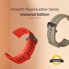 Original <b>Amazfit</b> Straps <b>20mm 22mm</b> Fluororubber Replacement ...