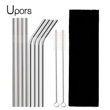 UPORS 4/8Pcs Reusable Drinking Straw <b>High Quality 304 Stainless</b> ...