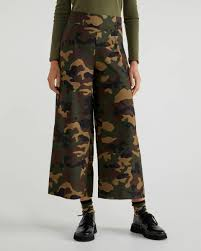 Trousers with <b>camouflage print</b> - Multi-<b>color</b> | Benetton