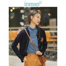 INMAN <b>2019</b> Autumn <b>New Arrival Elegant</b> Deep V neck Solid Slim ...