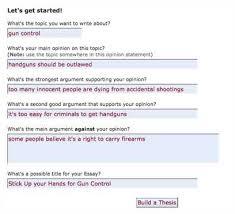online thesis builder online thesis builder the original persuasive essay thesis builder and online outliner