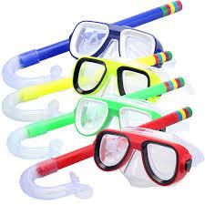 Children Safe <b>Snorkeling Diving Mask</b>+Snorkel Set PVC High ...