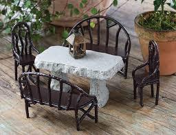 garden decor ideas mini table chair