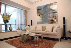 cream couch living room ideas:  living room artwork ideas panel art design with elegant and brownie wool design with cream sofa