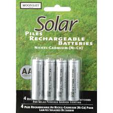 Moonrays 97125 <b>Rechargeable</b> NiCd AA Batteries for <b>Solar</b> ...