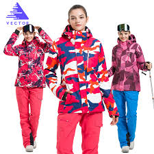VECTOR <b>Brand Ski Suit Women</b> Warm Waterproof <b>Skiing Suits</b> Set ...