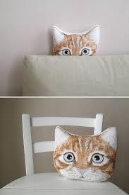 Orange <b>cat</b> decorative pillow ginger <b>cat</b> tabby srtiped red <b>cat</b> funny ...