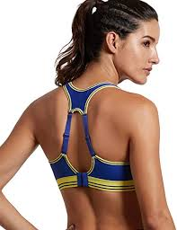 SYROKAN <b>Women's</b> Running Bra Racerback <b>High</b> Impact Sports ...