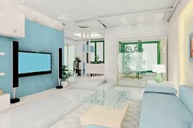 contemporary modern living room ideas with light blue sofa also glass table and home theater and interior design living room ideas contemporary photo