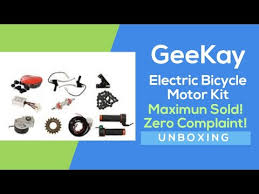 #Geekay Electric Bicycle <b>Motor Kit</b> 24v 250w #Unboxing and ...