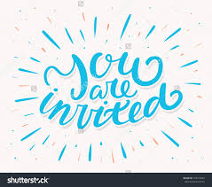 doc you re invited cards you are invited template more you invited invitation card hand lettering vector 318759452 you re invited cards