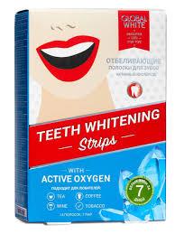 <b>ОТБЕЛИВАЮЩИЕ ПОЛОСКИ</b> для зубов с активным кислородом ...