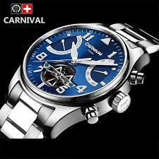 <b>Carnival Switzerland</b> Brand Automatic Mechanical Wristwatches Full ...