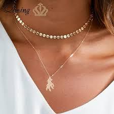 QIMING Origami Unicorn <b>Women Necklace</b> Fashion Design <b>Lovely</b> ...