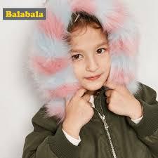 Balabala Kids Winter <b>Floral</b> Woolen <b>Girls Down</b> Jackets Coat Warm ...