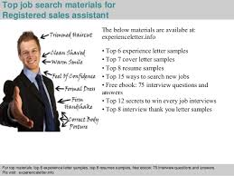 4 top job search materials for registered sales assistant registered sales assistant