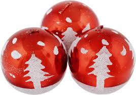 """Набор <b>свечей Winter Wings</b> """"Шар"""", цвет: красный, диаметр 5 см, 3 ..."""
