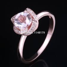 6.5mm Round 0.65ct Pink Morganite 0.16ct <b>Pave Natural</b> Flower ...