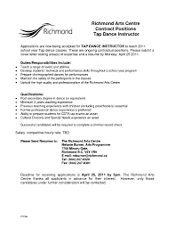 dance teacher cover letter template dance teacher cover letter