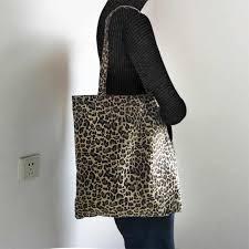 <b>New Women</b> Leopard Print CanvasTote Bag <b>100</b>% <b>Cotton</b> Shopping ...