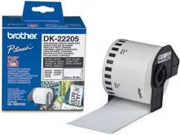 <b>Лента Brother</b> DK22205 бумажная <b>клеящаяся</b> белая 62мм*30.48м ...