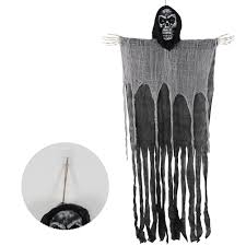 Large <b>Halloween Skeleton Hanging Ghost</b> with Foam <b>Skull</b> for Scary ...