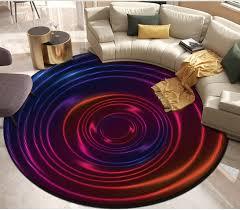 purple round <b>floor</b> Custom <b>3D Flooring</b> Mural Wallpaper ...