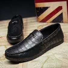 <b>Men's Crocodile Pattern Loafer</b> – oliveas
