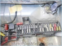 e class 1996 2002 w210 fuse box chart location designation fuse box under rear seat mercedes benz e320 e430 e55 w210 fuse box location