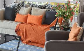 small orange living room ideas sofa