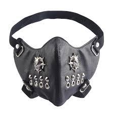 Personalized Mask Black Soft Leather Sun-shaped Skull Mask ...