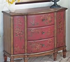 <b>Hand</b>-<b>painted console</b> cabinet with floral design. Not a how to, but a ...