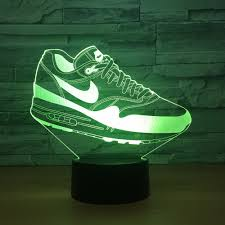 3D Led Touch Switch Shoes Shape <b>Night Light</b> For Sports Fans ...