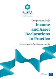 Asset declarations in practice