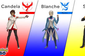 here are the team leaders for pokémon go polygon shown in the game only as silhouettes to this point here is the final artwork for the three team leaders in pokémon go it was revealed this afternoon