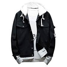 LENXH Men's Denim Jacket Fashion Hooded ... - Amazon.com