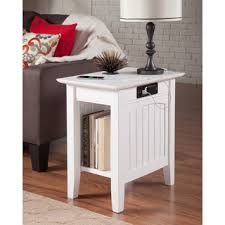 nantucket charger white wood side table atlantic mission work table