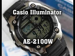 Обзор <b>часов Casio</b> Illuminator <b>AE</b>-<b>2100W</b> - YouTube