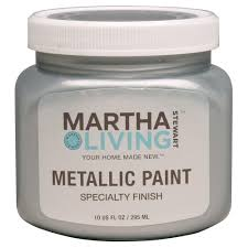 martha stewart living paint colors: martha stewart living  oz polished silver metallic paint