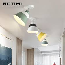 2019 <b>BOTIMI</b> E27 <b>LED Ceiling</b> Lights With <b>Metal</b> Lampshade For ...
