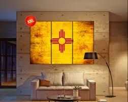 new mexico home decor: new mexico state flag canvas art print large wall art canvas print flag of the state of new mexico wall home decor interior office decor