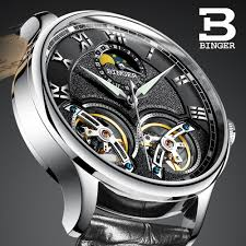 Double Tourbillon Switzerland <b>Watches</b> BINGER <b>Original</b> Men's ...
