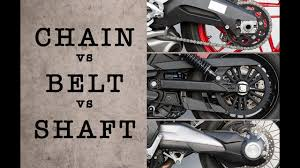 CHAIN vs <b>BELT</b> vs SHAFT - Which System is Best? | MC GARAGE ...